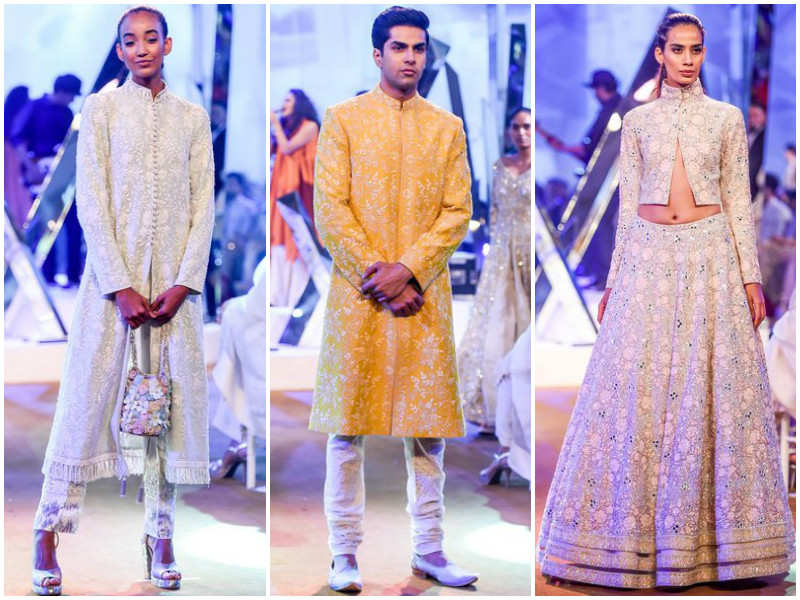 Glimpses of Manish Malhotra's collection from Mijwan Summer Couture Show 2017