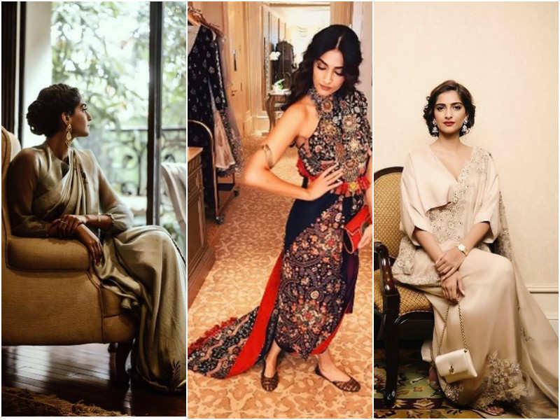 Sonam Kapoor ups the glam quotient in stunning Indian wear