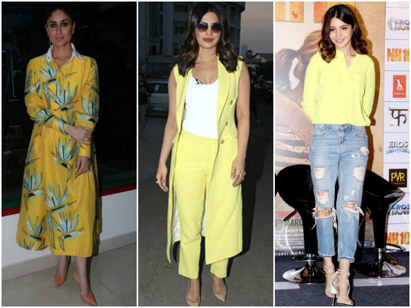 Celebs rock the latest colour trend of the season!