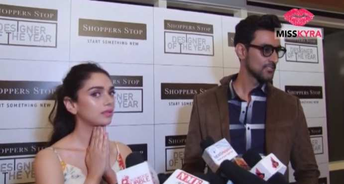 Aditi Rao Hydari & Kunal Kapoor spotted at a design event