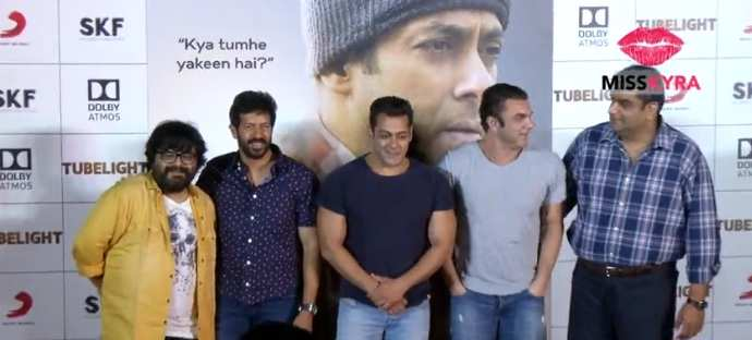 Salman Khan interacts with the media at the 'Tubelight' trailer launch