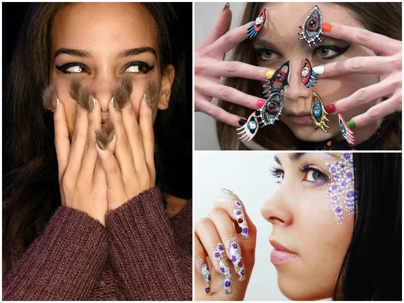 12 absolutely bizarre and creative nail art ideas