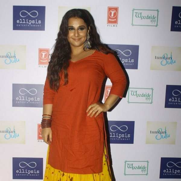 Vidya Balan attends the wrap-up party of 'Tumhari Sulu'