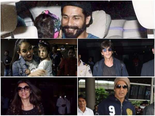 Shah Rukh, Shahid & Akshay spotted at the airport