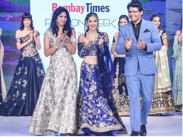 Sunny Leone walks for Riyaz and Reshma Gangii at Bombay Times Fashion Week