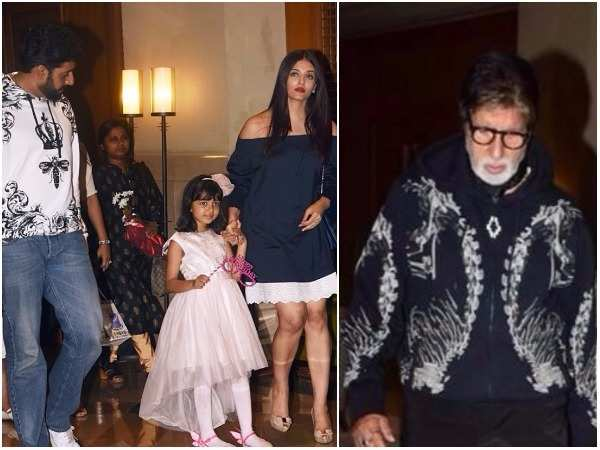 Aaradhya Bachchan celebrates her birthday with her family