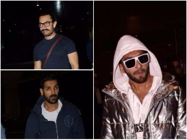 Ranveer Singh and Aamir Khan spotted at Mumbai airport