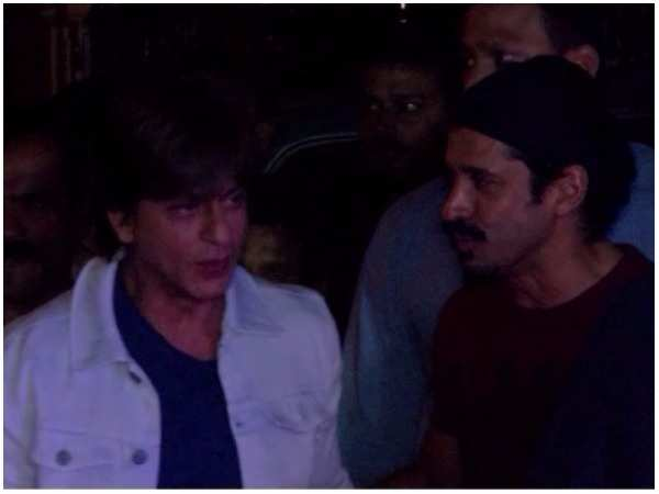 Shah Rukh Khan and Farhan Akhtar spotted at an event in the city