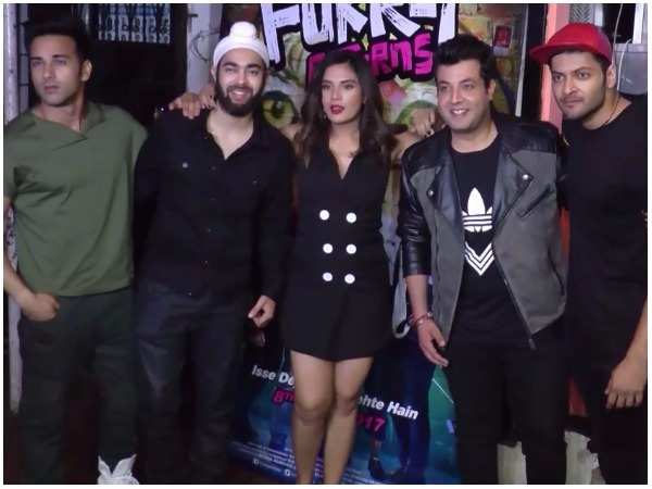 Team 'Fukrey Returns' promotes their film in the city