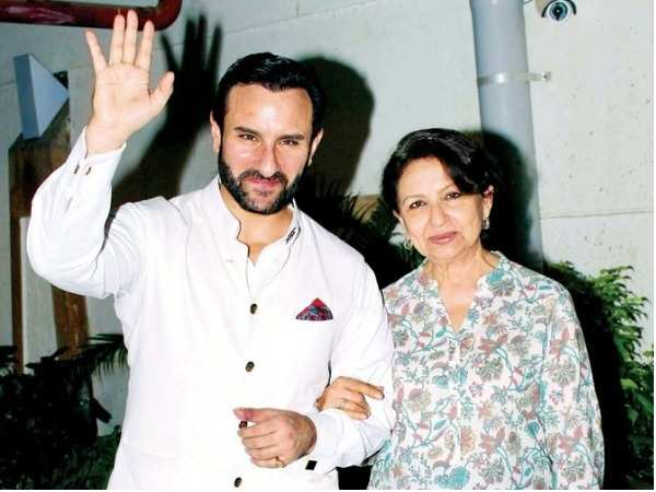 Sharmila Tagore spotted at Saif Ali Khan's residence