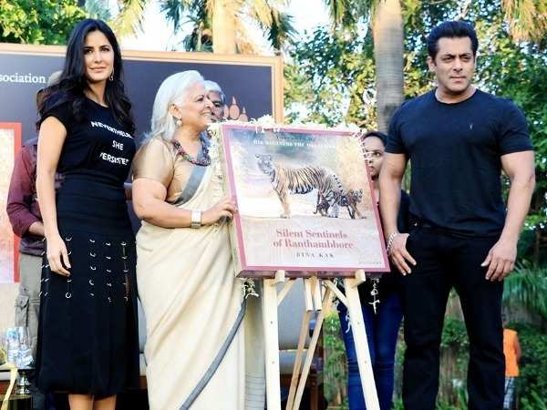 Salman Khan and Katrina Kaif spotted at book launch