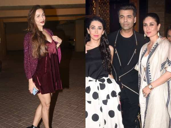 Kareena Kapoor Khan, Karisma Kapoo and Karan Johar spotted at Malaika Arora's Christmas bash