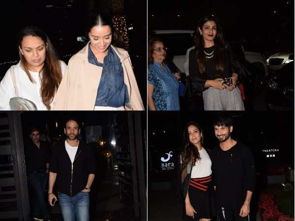 Shahid, Shraddha, Raveena and Tusshar spotted in the city