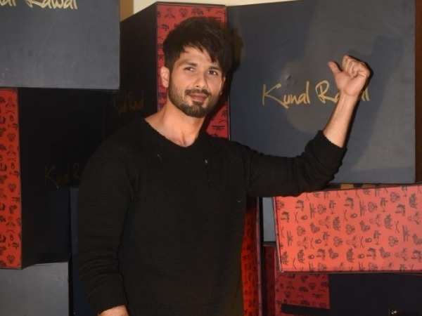 Shahid Kapoor spotted at a store launch