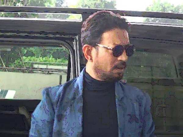 Irrfan Khan spotted at the airport