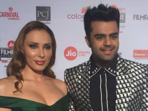 Iulia Vantur spotted at 63rd JioFilmfare Awards 2018