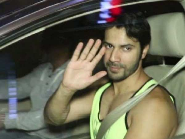 Varun Dhawan spotted in the city