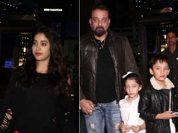 Sanjay Dutt and Janhvi Kapoor spotted in the city