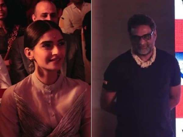 Sonam Kapoor and R. Balki spotted at an event