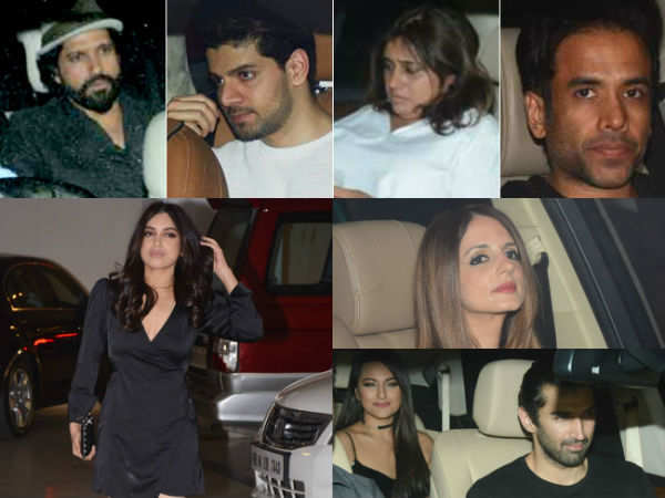 Sonakshi, Aditya Roy, Farhan and Aditi spotted at Karan Johar's Valentine's party