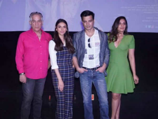 Richa Chadha, Aditi Rao Hydari, Rahul Bhatt and Sudhir Mishra spotted at its trailer launch of 'Daas Dev'