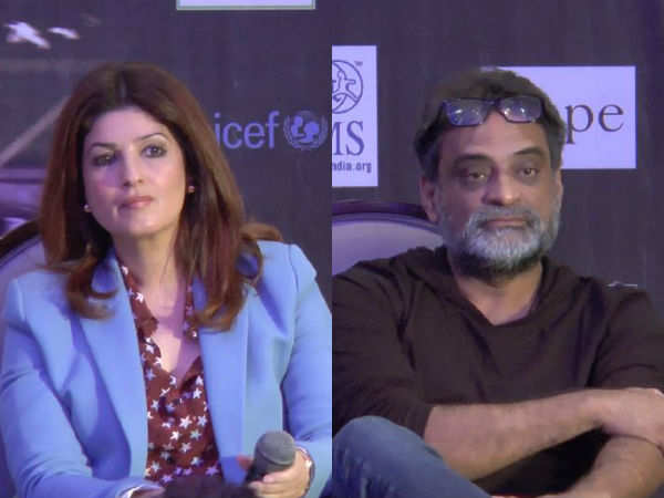 Twinkle Khanna and R. Balki captured at the event