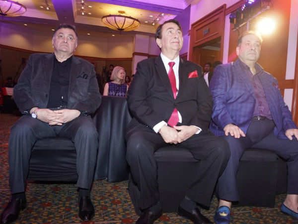Rishi Kapoor, Randhir Kapoor and R. Balki captured at an award show