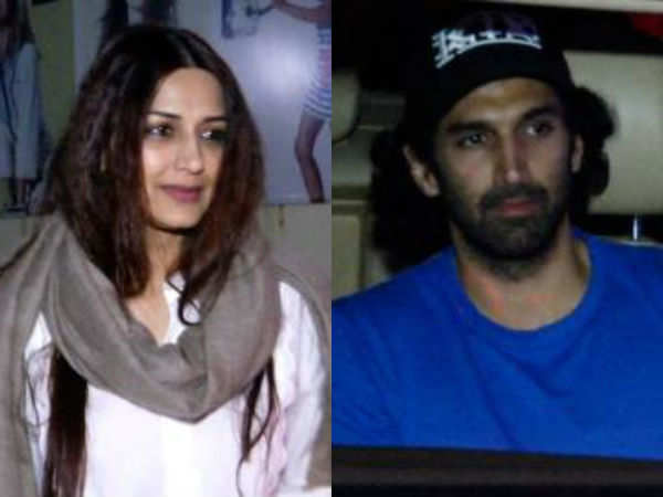 Aditya Roy Kapur and Sonali Bendre Behl spotted at movie outing