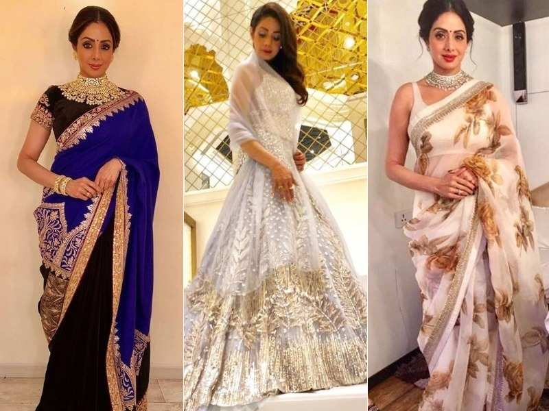 When Sridevi's bold fashion choices inspired us!