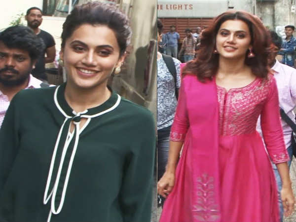Taapsee Pannu spotted out and about in the city