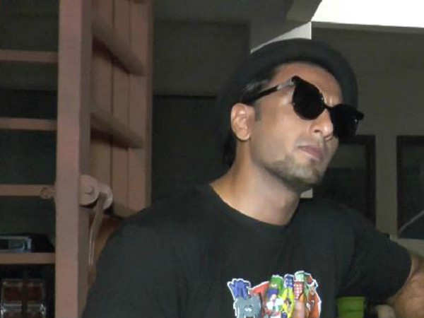 Ranveer Singh captured in the city