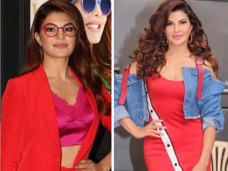 Jacqueline Fernandez seems like she is having a great time styling red and we're taking major inspiration!