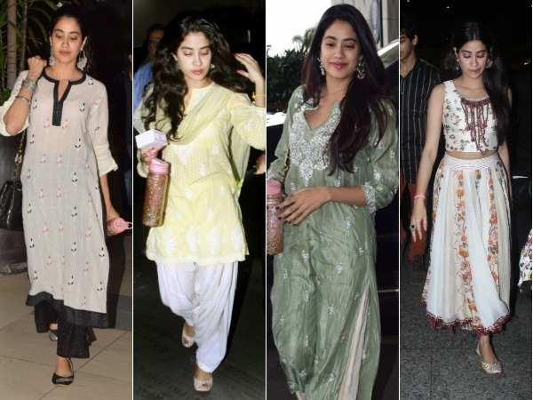 Janhvi Kapoor seems to favour Indian wear for her travel style!
