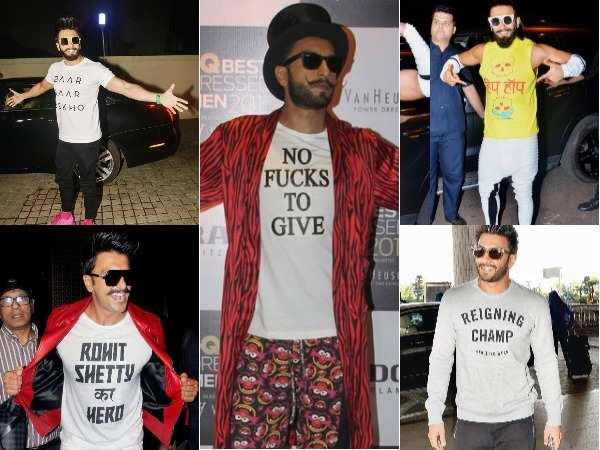 All the times Ranveer Singh spoke his mind via his quirky slogan tees