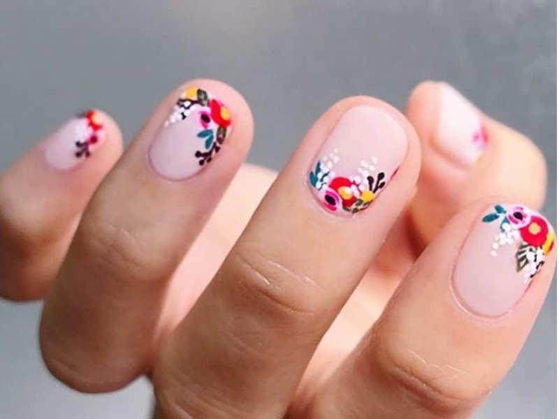 Floral Nail Art Designs Perfect For Anyone With Short Nails Misskyra