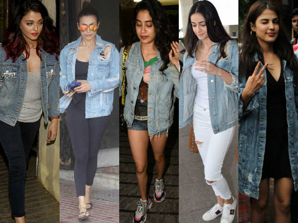 Trend Alert! Janhvi Kapoor, Malaika Arora, Ananya Panday are high on ripped denim jackets