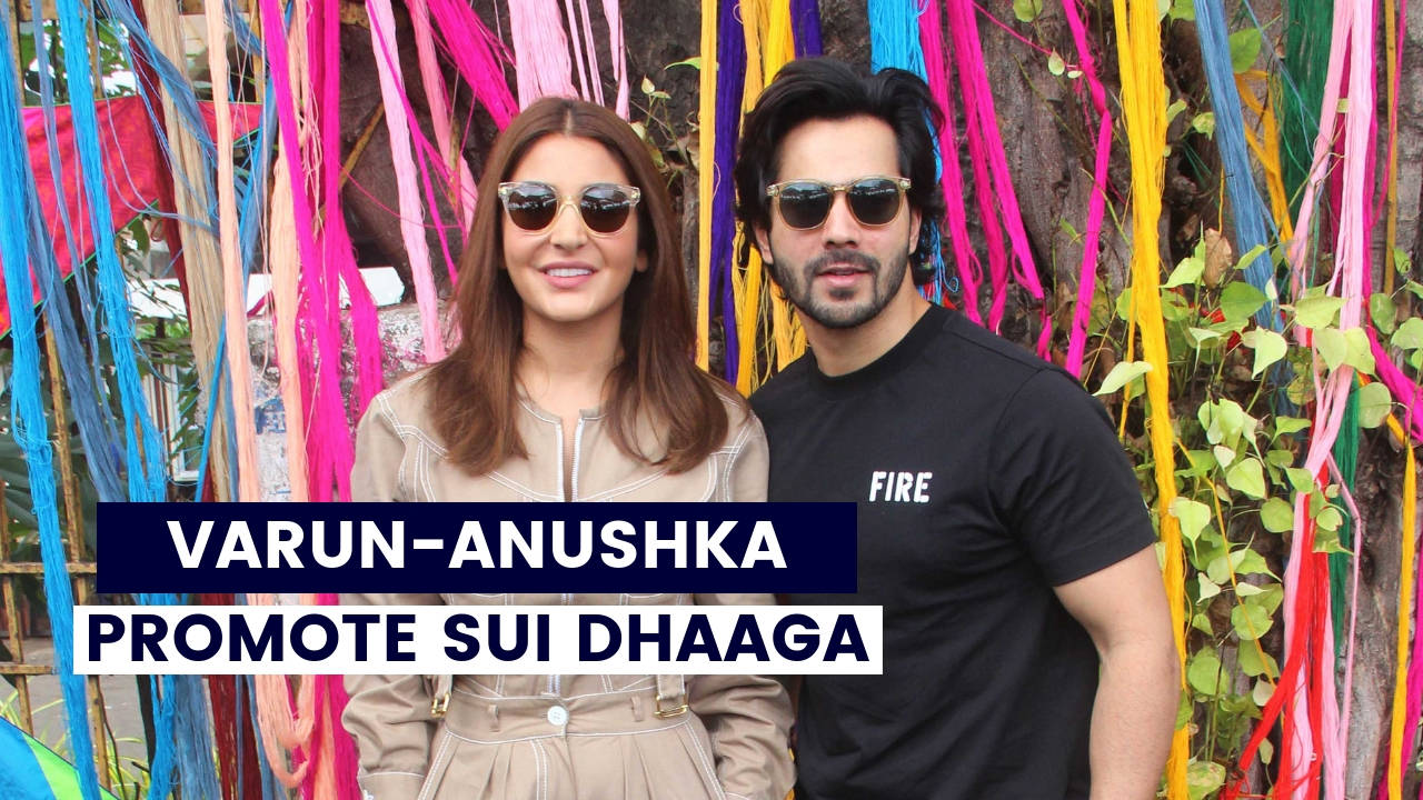 Sui Dhaaga : Anushka Sharma and Varun Dhawan promote the film in a unique way