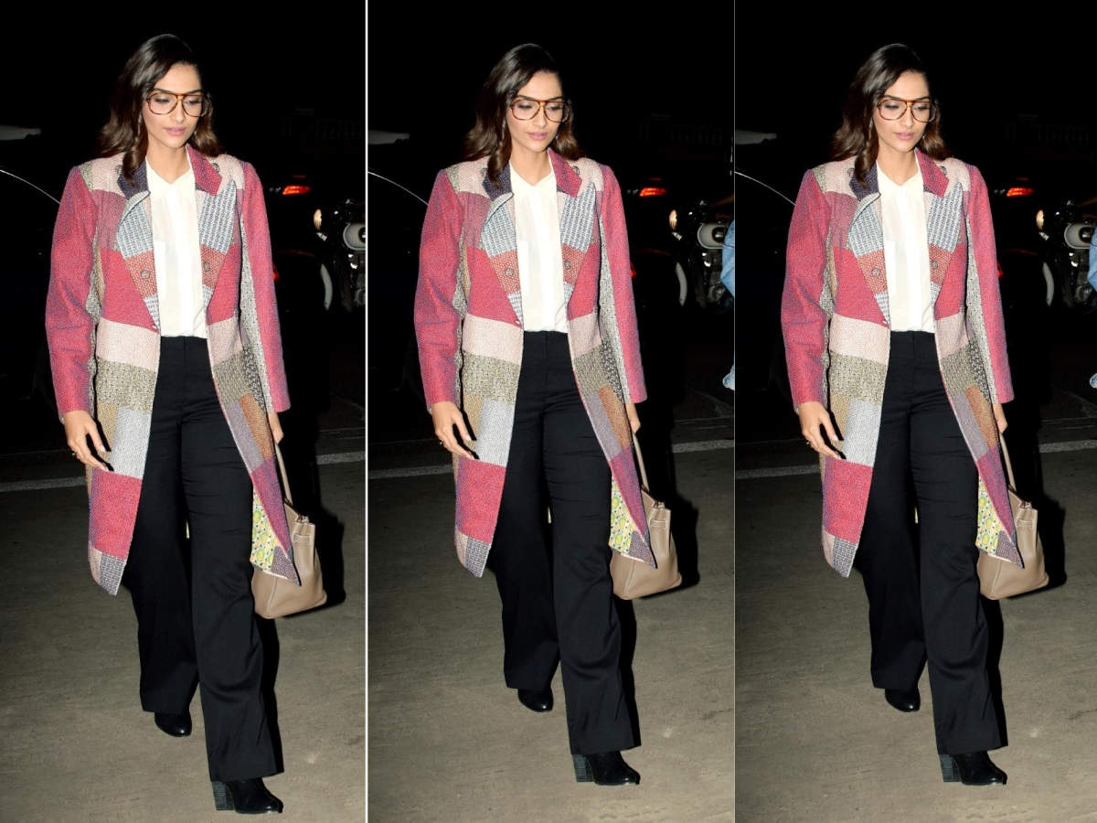 Sonam K Ahuja's patchwork jacket is a winter style staple!