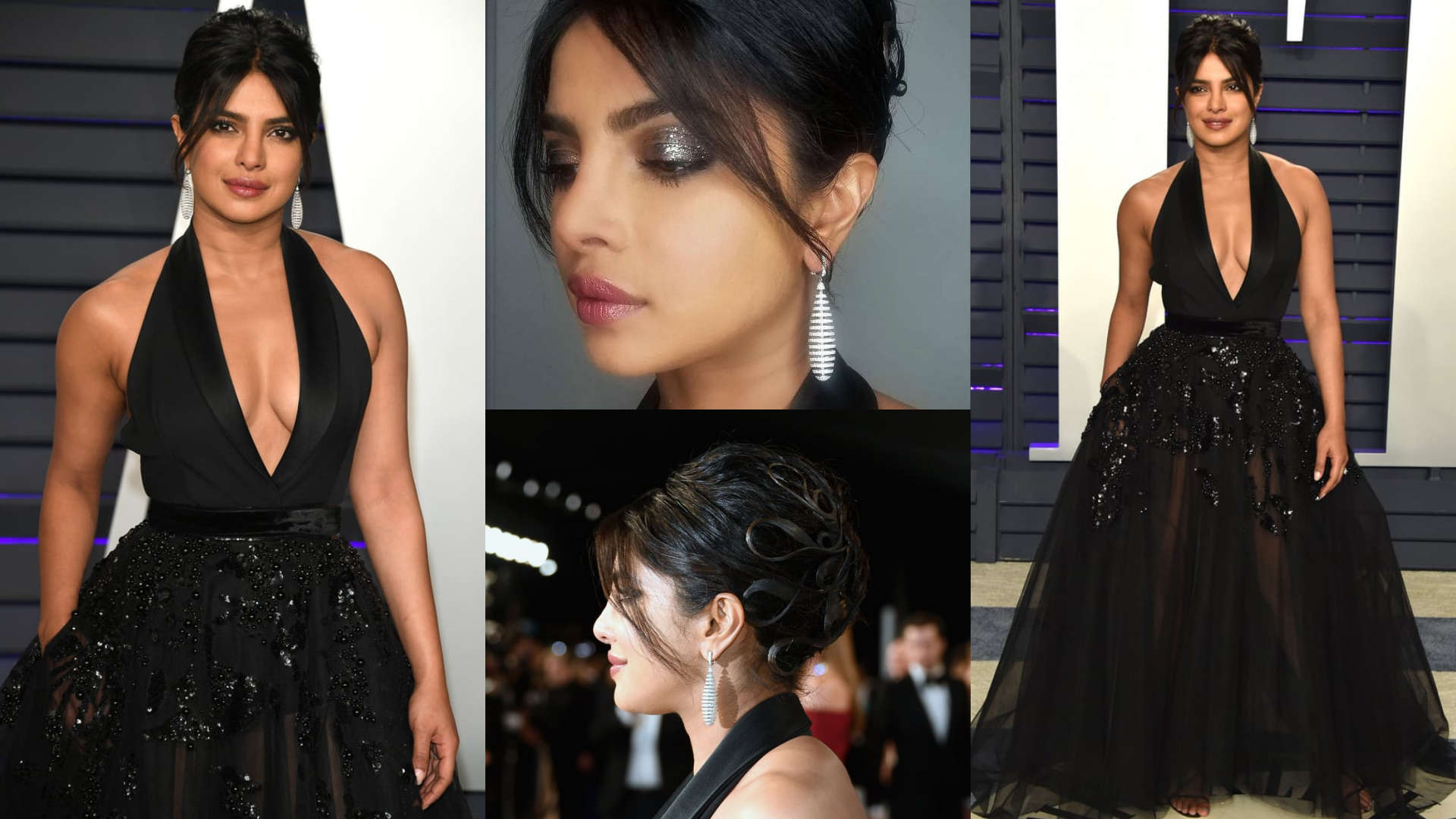Oscars After Party | Priyanka Chopra Jonas brings on the drama with her Elie Saab gown