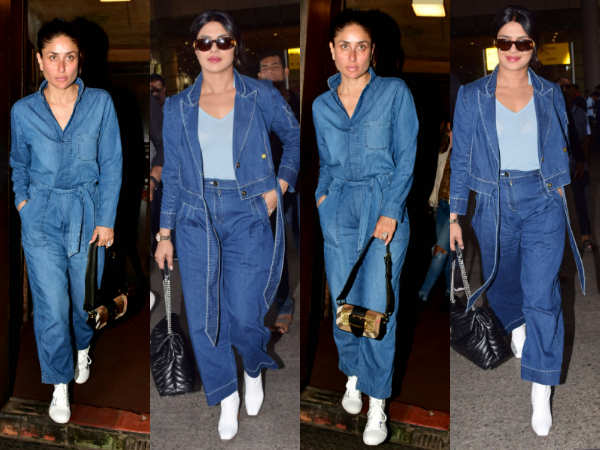 Priyanka Chopra and Kareena Kapoor make a solid case for DENIM overalls in their latest outings!