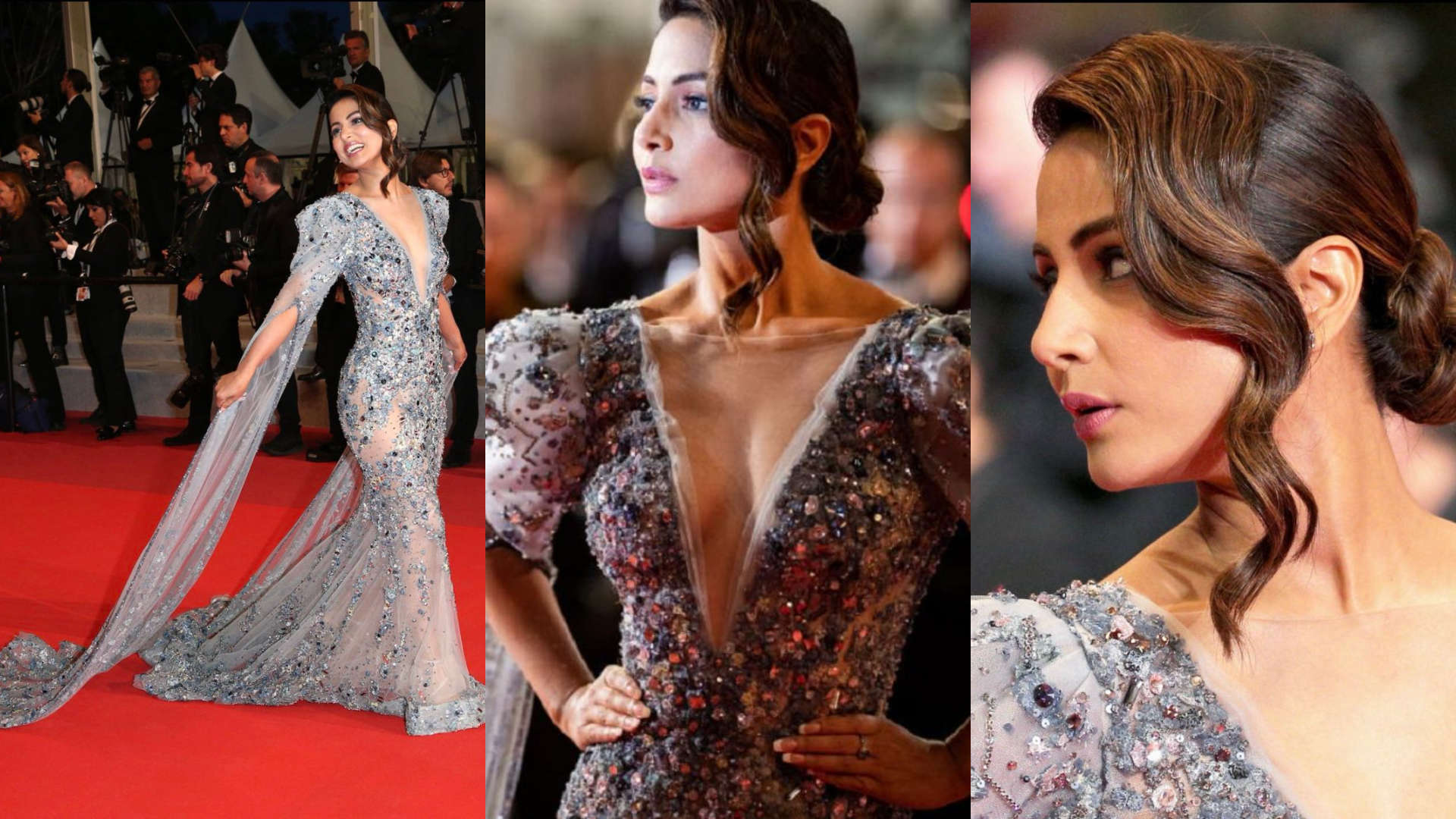 Hina Khan makes a stunning debut at the 2019 Cannes red carpet