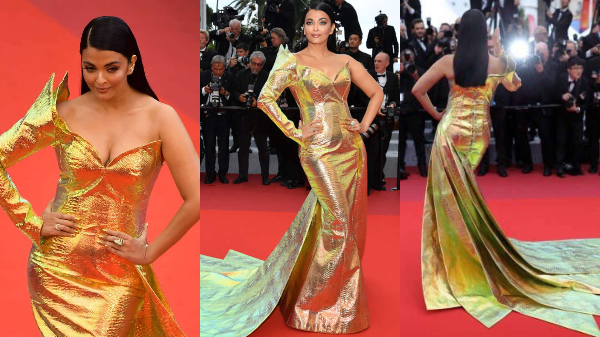 Cannes 2019: Aishwarya Rai Bachchan turns into a golden mermaid on the red carpet