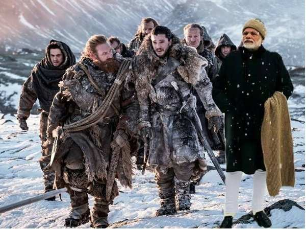 Prime Minister Narendra Modi's picture in Davos becomes the latest subject of memes to go viral on the Internet!