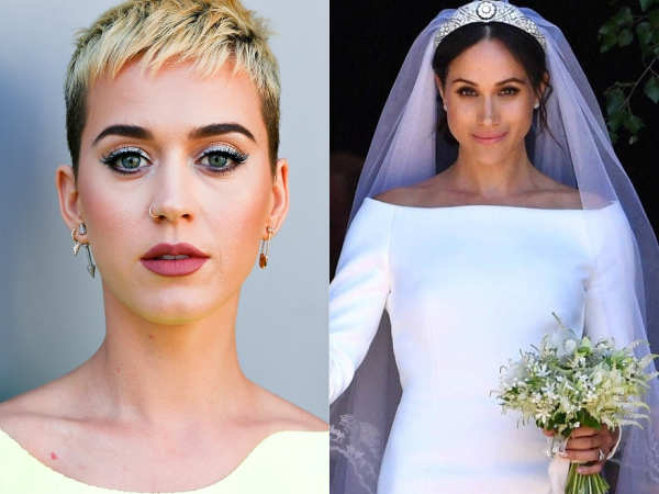Katy Perry seems to have a problem with Meghan Markle's wedding gown
