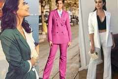 Style tips to rock a pantsuit like a B-town celeb