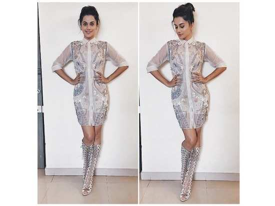 Taapsee Pannu s style-file is already bursting with some absolutely amazing  looks that the actress sported whilst promoting her recently released film    ... 0722a4481