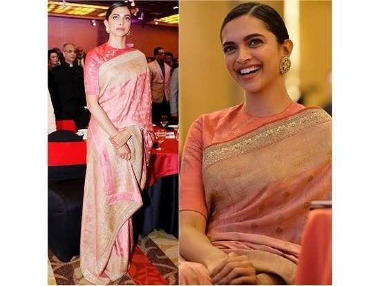 710b278fa It's pretty obvious now that Deepika Padukone is probably the biggest fan  of the traditional drape and we'd love a sneak-peek into her saree  collection.