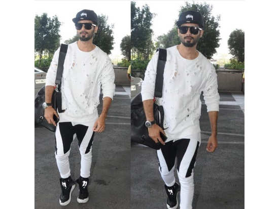 Shahid Kapoor goes with monochrome athleisures for his airport look and  totally nails it! 80dbb5b99