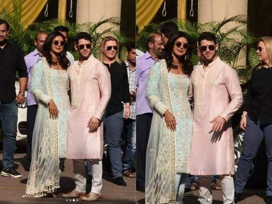 34d1f0a7fc6e The pre-wedding festivities for Priyanka Chopra and Nick Jonas have begun  on an auspicious note with a puja. The puja took place at the actress   Mumbai ...