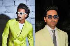 Whose neon suit do you prefer? Ranveer Singh or Ayushmann Khurrana?